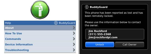 Blackberry stolen phone app